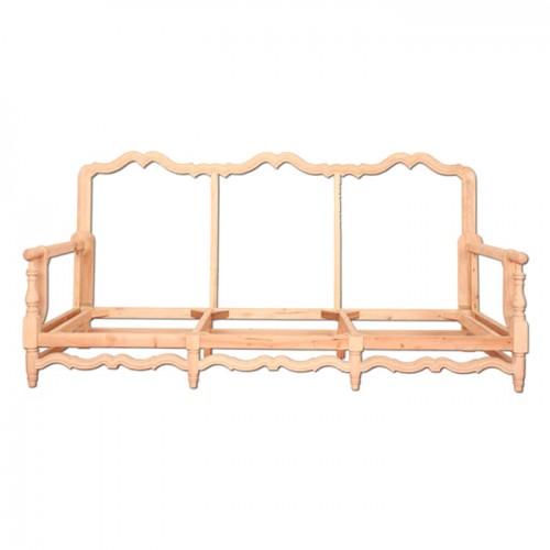 实木沙发美式沙发客厅布艺欧式三人位沙发架03