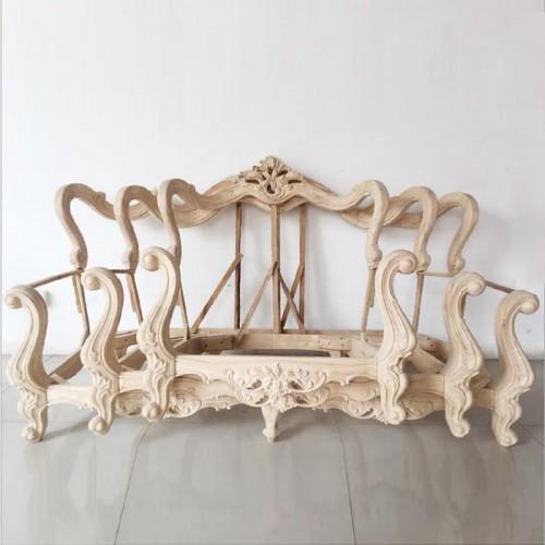 欧式风格客厅沙发白茬06