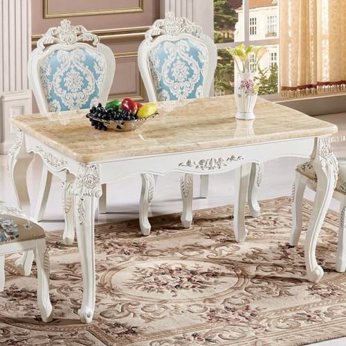 欧式大理石面餐桌组合22