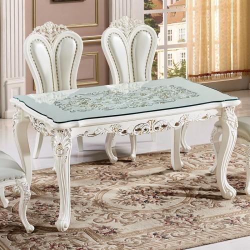 欧式透雕玻璃餐桌36
