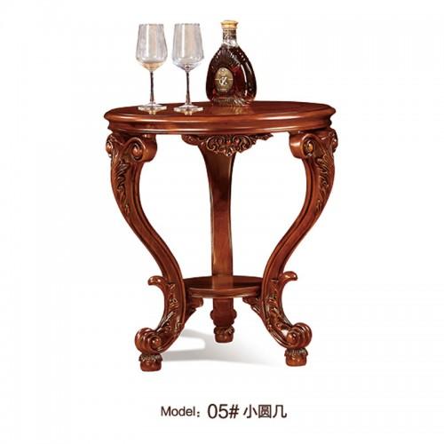 古典实木圆形置物桌05
