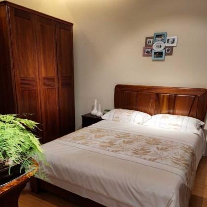 实木套房衣柜床
