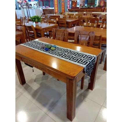 实木橡胶木餐桌椅