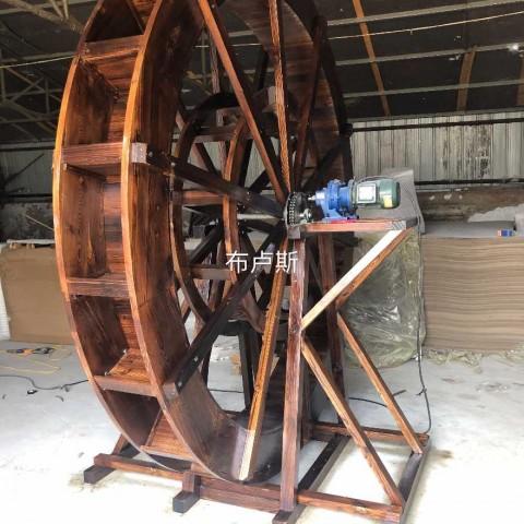 香河碳化木水车厂家直销大型图片带电机能转的价格 (2播放)