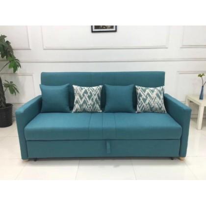 经典时尚小户型多功能双人全钢架折叠推拉客厅沙发床