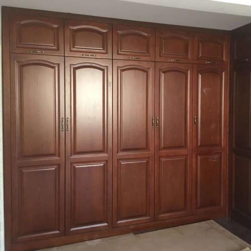 实木整体衣柜33