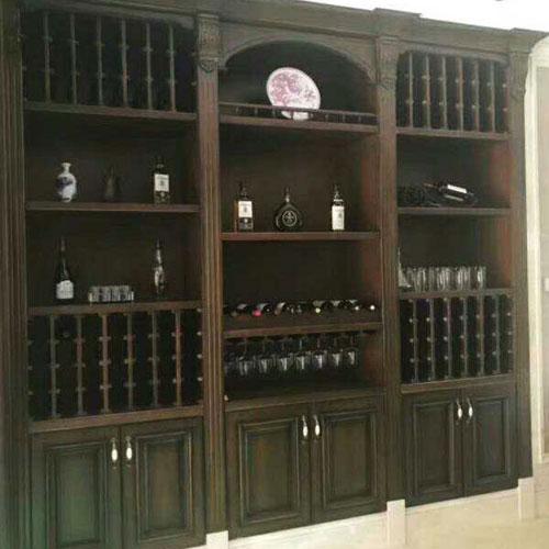 美式复古定制酒柜家具13