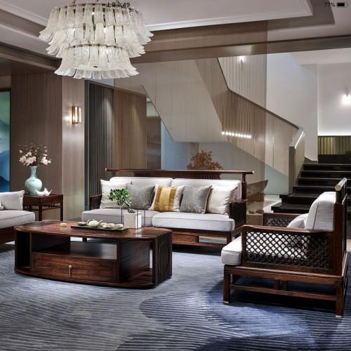 时尚禅意实木沙发组合HT08009-1