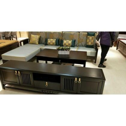 新中式沙发茶几电视柜