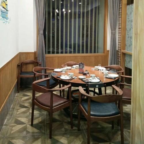 辉熠家具现代简约实木圆形餐桌200