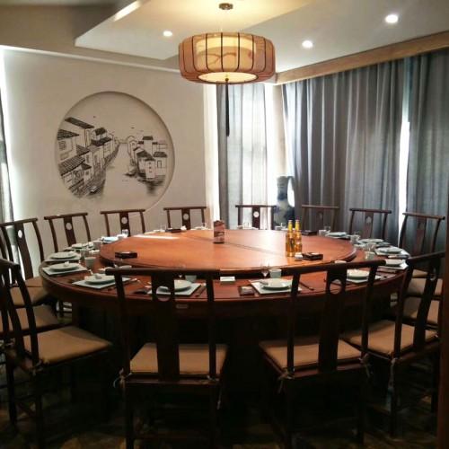 饭店餐厅圆形餐桌椅组合201