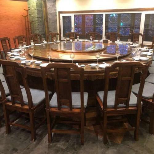 辉熠仿古圆形餐桌明清古典全实木圆桌205