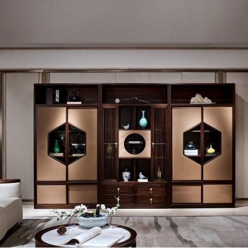 南洋迪克禅意新中式实木组合酒柜HT09305A