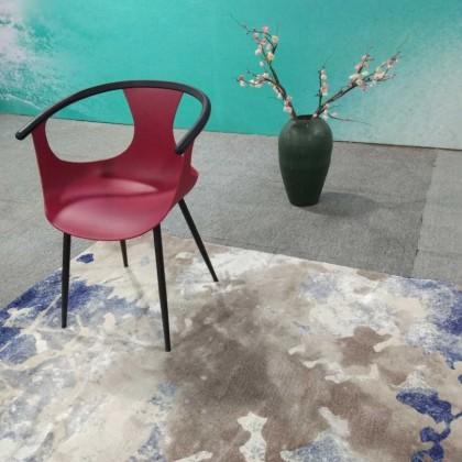 新中式红色塑料椅