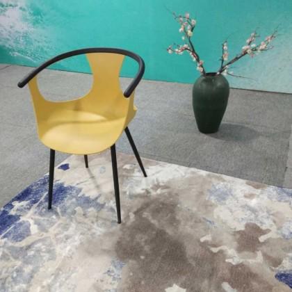 新中式黄色塑料椅