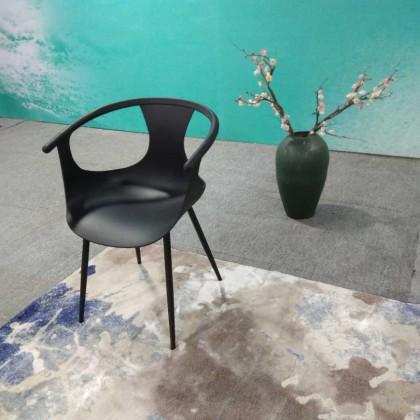 新中式黑色塑料椅