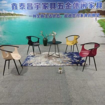 新中式四色塑料椅