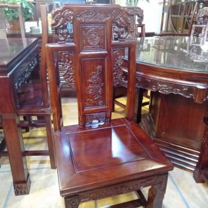 老榆木象头椅子