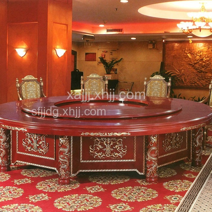 酒店电动转盘餐桌椅大圆桌03