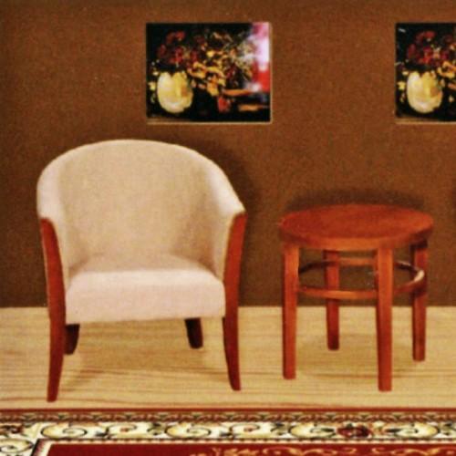 宾馆单人围椅组合三件