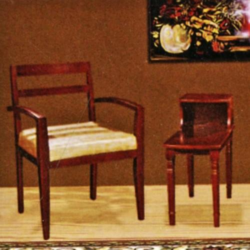 酒店中式休闲桌椅三件