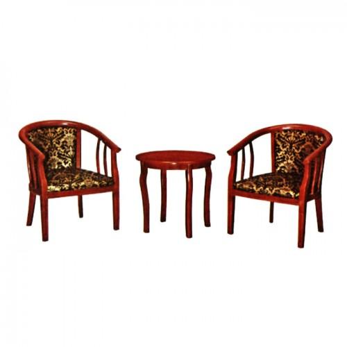 酒店宾馆围椅茶几三件