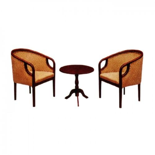 宾馆客房休闲椅圆桌三