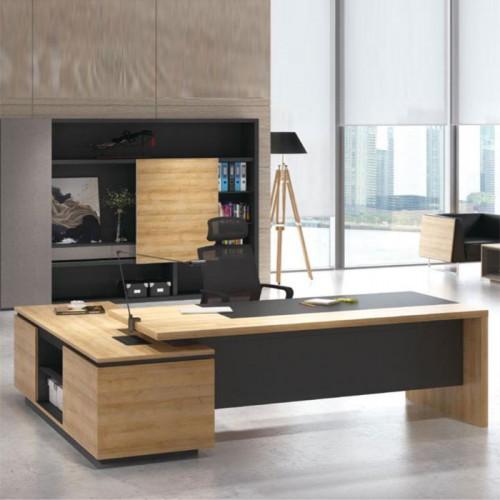 板式实木老板台电脑桌