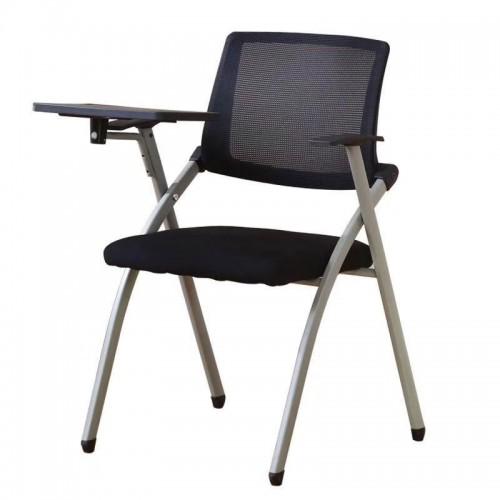 培训椅带写字板靠背椅
