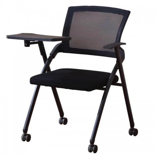 可移动网布职员椅带写