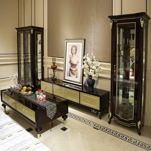 客厅新古典电视柜茶几