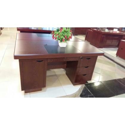 原木职员桌