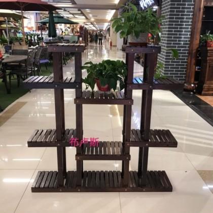 香河松木多层花架防腐木拆装室内客厅放的小花箱实木