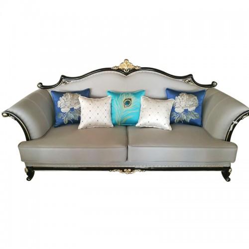 新古典轻奢实木沙发木