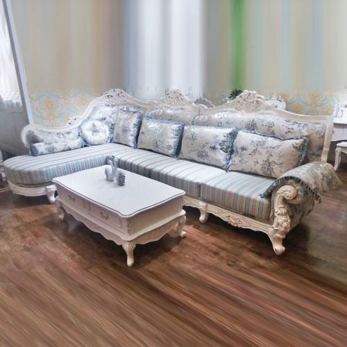 高档欧式转角沙发木线