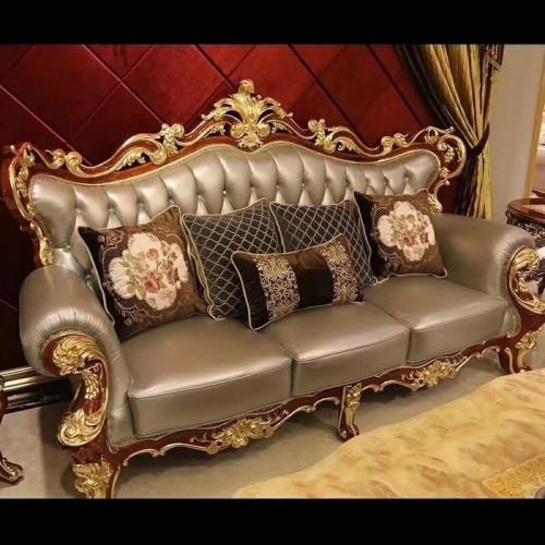 奢华酒店实木欧式沙发