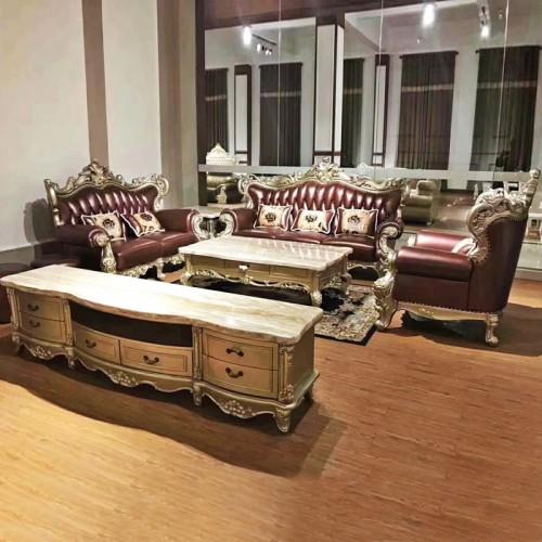 奢华欧式实木沙发木线