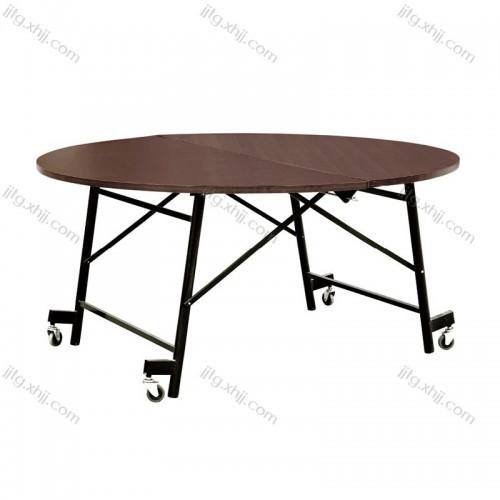 折叠桌子移动圆餐桌CZY-09