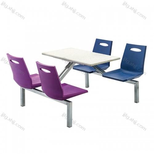 学校食堂连体餐桌椅CZY-07