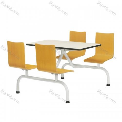公司工厂食堂连体餐桌椅CZY-06