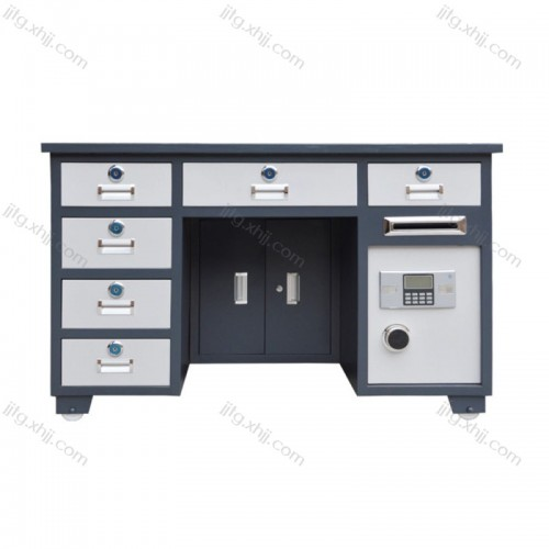 带保险柜办公桌保险桌BXZ-04