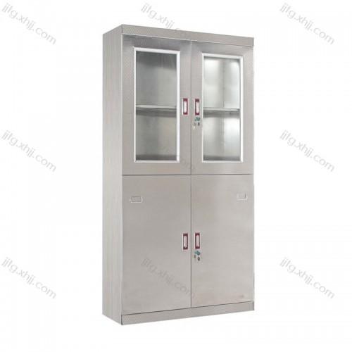 不锈钢玻璃门平开柜BXG-02