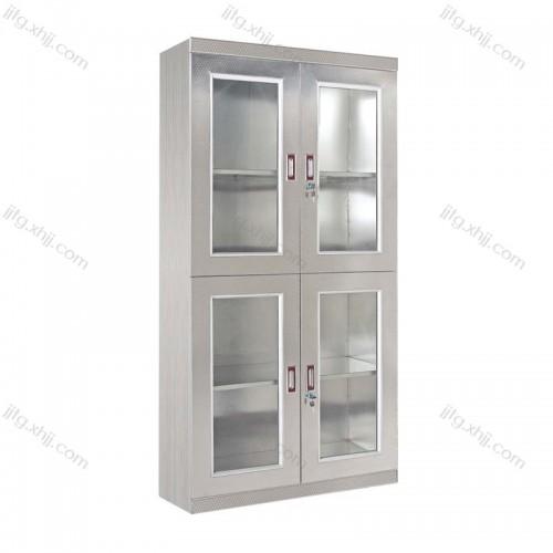 不锈钢上下玻璃门文件柜BXG-01