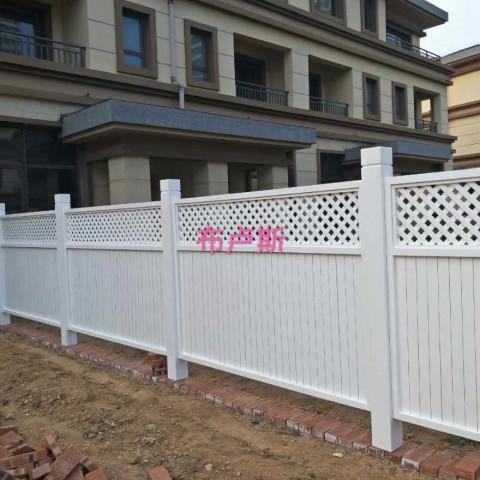 香河户外家具防腐木围栏白色栅栏网格花池定制护栏隔断 (12播放)