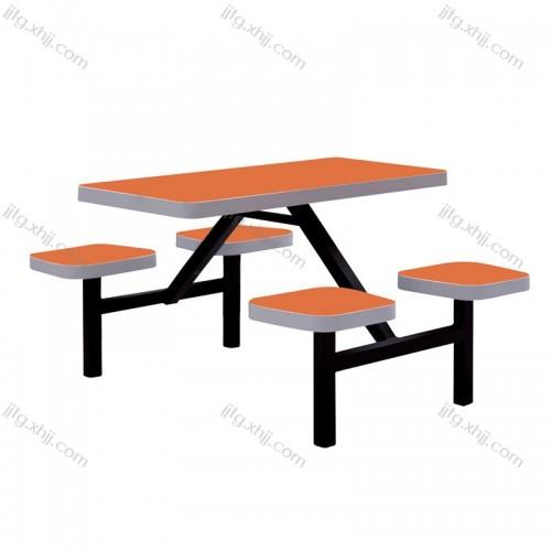 学校食堂简约连体餐桌椅CZY-05