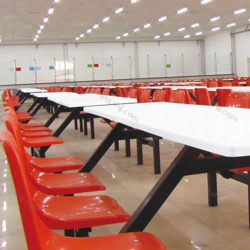 工厂职工食堂连体餐椅CZY-01