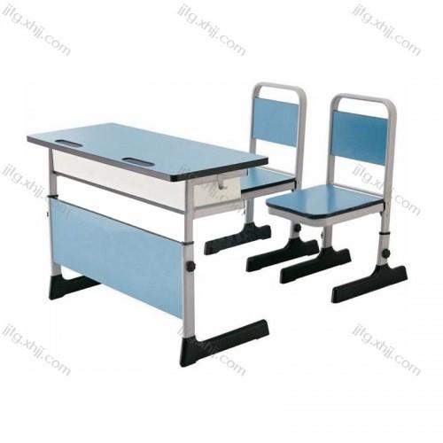 环保双人培训班教室学生桌椅KZY-01