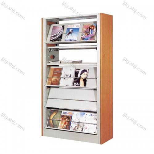 单面钢木期刊架杂志架QKJ-19