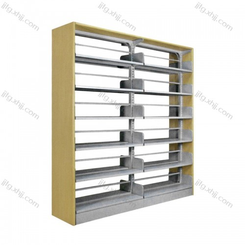 单柱钢木双面书架SJ-11