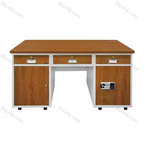 钢制财务带锁办公桌GZBGZ-06